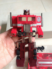 Transformers News: Transformers Red Camo BAPE Exclusive G1 Convoy Toy Images