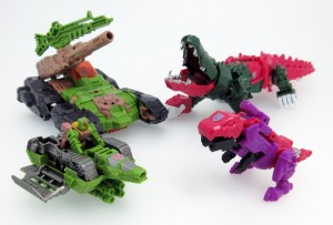 Takara Tomy Transformers Legends Skull and Hardhead Images with Drones