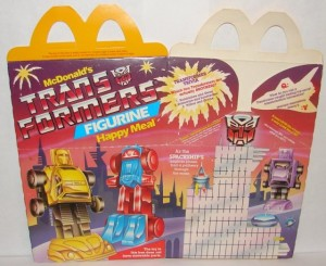 Top 5 Transformers Themed McDonald's Happy Meal Fast Food Premiums