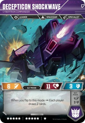Q&A on the Transformers Trading Card game Instagram and Shockwave Alt mode reveal