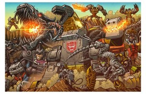 "Transformers News: BotCon 2014 ""All Hail Grimlock"" Print by Matt Frank"
