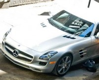 Transformers News: Michael Bay on the Identity of the Silver Mercedes-Benz SLS AMG