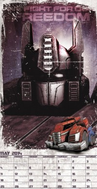 Transformers News: Day Dream's Transformers: Fall of Cybertron 2014 Wall Calendar Preview