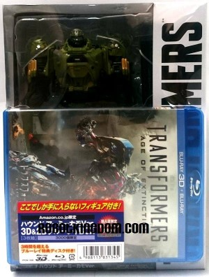 Transformers News: In Hand Images Of Amazon.jp Exclusive Movie Advanced Green Army Camo Hound / Blu-ray Combo Pack