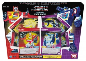 Transformers Trading Card Game Blaster vs Soundwave Pack Retail Version and Omnibots Revealed