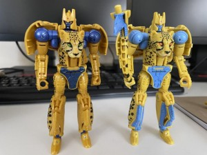 Comparison Image Between Cheetor from Transformers Netflix and Kingdom Line