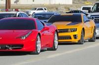 Transformers News: Showcase of Dark Of The Moon Ferrari, Benz, Sideswipe, and Bumblebee