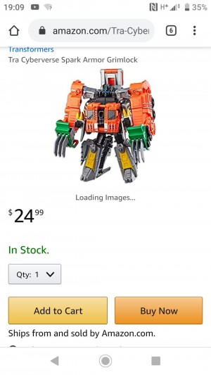 Transformers Cyberverse Power of the Spark Elite Spark Armour Grimlock Available on Amazon