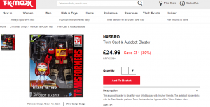 Transformers News: Titans Return Blaster for only £25 at TKMaxx