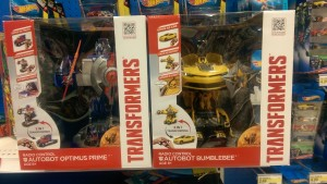 Transformers: Age of Extinction Nikko RC Bumblebee and Optimus Prime at US and UK Retail