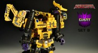 "Transformers News: MakeToys Giant Set ""B"" Mobile Crane and Dump Truck Video Review and Images"