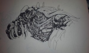 Transformers News: In Progress images of the new James Raiz exclusive Transformers / G.I. Joe Villains print for TF Con