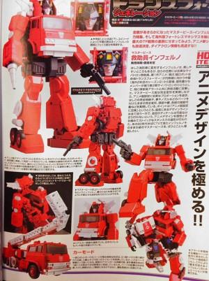 Takara Tomy Transformers Masterpiece Inferno Figure King Magazine Scans with Ladder Trick