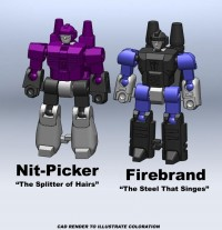 Transformers News: MasterShooter Collectibles Exclusives: Nit-Picker & Firebrand, Pinnacle & Firebox