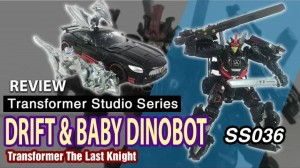 Transformers News: Video Review of Transformers Studio Series #36 The Last Knight Drift and Mini-Dinobots
