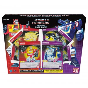 Transformers Trading Card Game SDCC Exclusive Blaster and Soundwave Sets