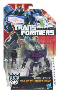 """Official In-Package Images: Transformers Generations """"Fall of Cybertron"""" Optimus Prime, Autobot Jazz, and Shockwave"""