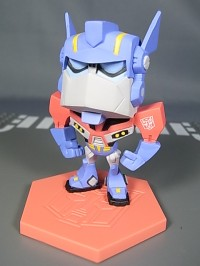 New Images of Family Mart Prizes D and E - Clear Animated Legends and SD Prime / Megatron
