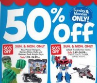 Labor Day Sales at Toys'R'Us. 50% Off Select Animated
