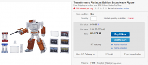 Transformers News: Steal of a Deal: Platinum Edition Soundwave $79.99 plus deals on select RiD Toys
