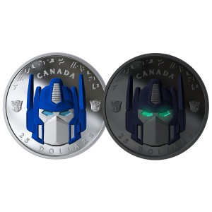 Transformers News: Canadian Mint Issues Official Optimus Prime Quarter and $25 Coin
