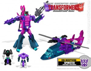 Transformers News: Video Review of Transformers TFSS 4.0 Spinister and Comments from Bio Writer