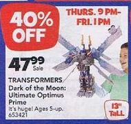 More Transformers Black Friday Deals: TRU and Target