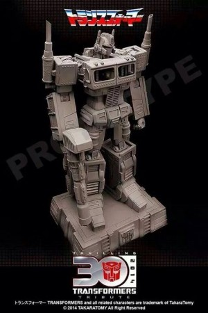 Transformers News: Takara Tomy Thrilling 30 Transformers Tribute Optimus Prime Statue Prototype Image