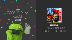 Official press Release on Kabam's Transformers: Forged to Fight Winning Best Game