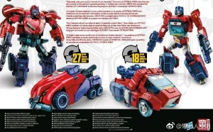 Back of the box for Transformers: Tribute Optimus Prime / Orion Pax 2-Pack