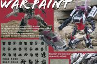 Transformers News: Reprolabels Update:  Movie 'War Paint' Symbols, G1 Sets