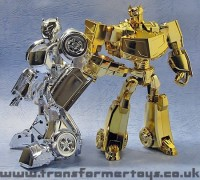 Transformers News: Toy Images of Lucky Draw Transformers Animated Silver Bumblebee