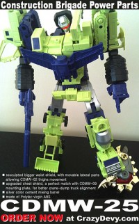 Transformers News: CDMW-25 Construction Brigade Power Parts
