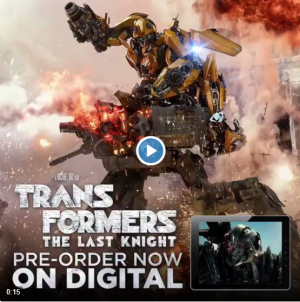 Transformers: The Last Knight digital pre-orders available now on iTunes!