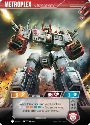 Transformers News: Official Transformers TCG Metroplex Theme Deck Card Reveals