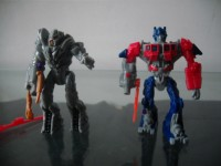 Transformers News: Toy Images of McDonald's Happy Meal - Movie Optimus Prime & Megatron