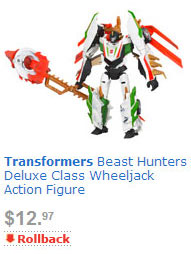 Transformers News: Transformers Beast Hunters price rollback at Walmart