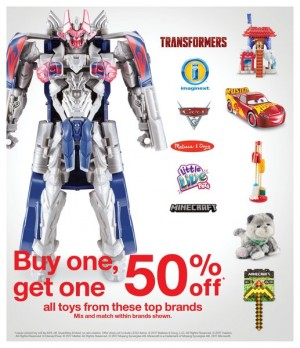 Buy One Get One 50% Off on Toys at Target US Until 11 / 22