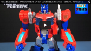 Transformers Cyber Commander Optimus Prime Video Review