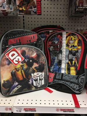 Transformers News: Transformers: Robots in Disguise, Generations, and The Last Knight Backpacks and Lunchbags found at US retail