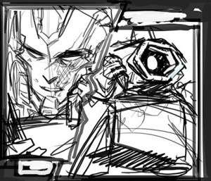 IDW Transformers: Lost Light #14 Page 3 Art Process by Sara Pitre Durocher
