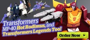 HobbyLinkJapan Sponsor News August 14, 2017 - MP-40 Hot Rodimus Pre-Order and More