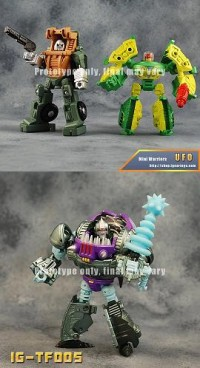 New Images of iGear's MW-03 Hench, MW-04 UFO, and IG-TF005 Sharkticon