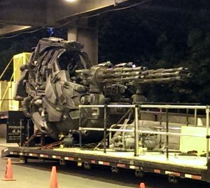 Transformers News: Dual Machine Gun Vehicle spotted on set of Transformers 4 in Chicago yesterday