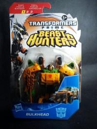 "Transformers News: In-Package Images: Transformers Prime ""Beast Hunters"" Cyberverse Commanders Optimus Prime, Bulkhead, and Predaking"