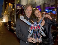 Transformers News: Michael Bay & Rosie Huntington-Whiteley at Toy Fair with Ultimate Optimus Prime