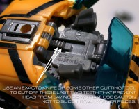 Transformers News: Head modification for Transformers Prime Robots in Disguise Bumblebee