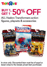 Transformers News: Transformers Toys 'R Us Sale- Today and Tomorrow Only!