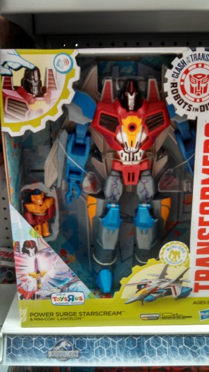 Transformers News: Transformers: Robots in Disguise Power Surge Starscream, Deluxe Optimus, Paralon, Starscream, Stasis Pod 2-Pack at US Retail