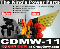 Transformers News: CDMW-11 CrazyDevy The King's Power Parts - New Predaking Wings